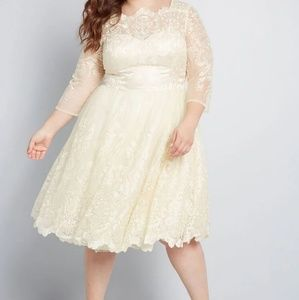 Chi Chi London Vintage-Inspired Lace Dress